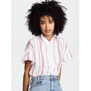 Madewell Ruffle Sleeve Central Shirt - XS